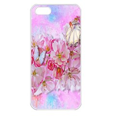 Nice Nature Flowers Plant Ornament Apple Iphone 5 Seamless Case (white)