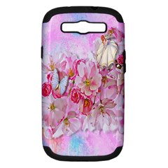 Nice Nature Flowers Plant Ornament Samsung Galaxy S Iii Hardshell Case (pc+silicone)