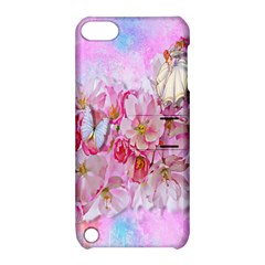 Nice Nature Flowers Plant Ornament Apple Ipod Touch 5 Hardshell Case With Stand