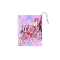Nice Nature Flowers Plant Ornament Drawstring Pouches (xs)