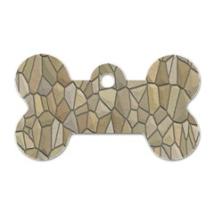 Tile Steinplatte Texture Dog Tag Bone (two Sides)