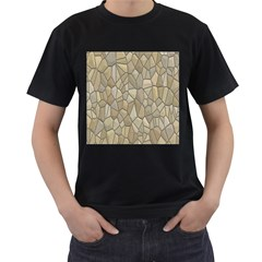 Tile Steinplatte Texture Men s T Shirt (black)