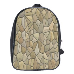 Tile Steinplatte Texture School Bag (large)