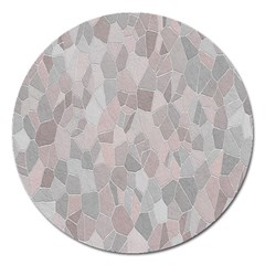 Pattern Mosaic Form Geometric Magnet 5  (round)