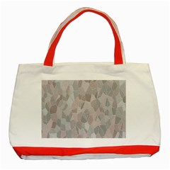 Pattern Mosaic Form Geometric Classic Tote Bag (red)