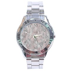 Pattern Mosaic Form Geometric Stainless Steel Analogue Watch