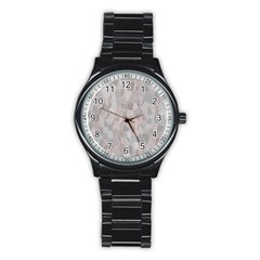 Pattern Mosaic Form Geometric Stainless Steel Round Watch