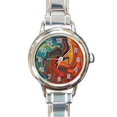 Creativity Abstract Art Round Italian Charm Watch