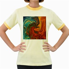 Creativity Abstract Art Women s Fitted Ringer T Shirts