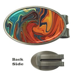 Creativity Abstract Art Money Clips (oval)