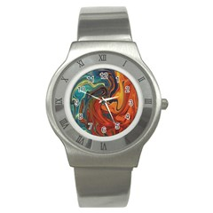 Creativity Abstract Art Stainless Steel Watch