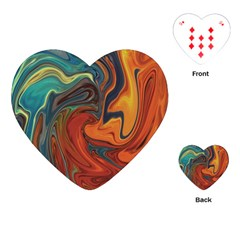 Creativity Abstract Art Playing Cards (heart)