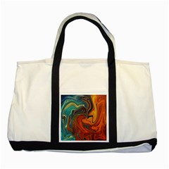 Creativity Abstract Art Two Tone Tote Bag