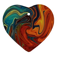 Creativity Abstract Art Heart Ornament (two Sides)