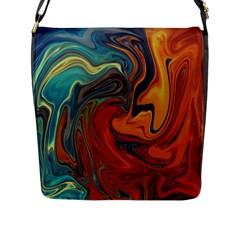 Creativity Abstract Art Flap Messenger Bag (l)