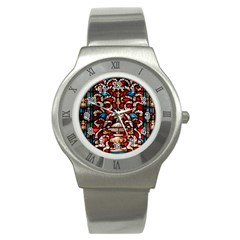 Decoration Art Pattern Ornate Stainless Steel Watch