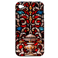 Decoration Art Pattern Ornate Apple Iphone 4/4s Hardshell Case (pc+silicone)