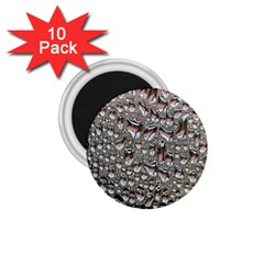 Droplets Pane Drops Of Water 1 75  Magnets (10 Pack)