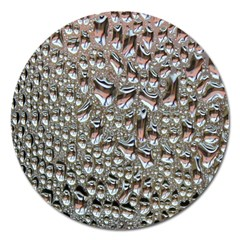 Droplets Pane Drops Of Water Magnet 5  (round)