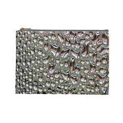 Droplets Pane Drops Of Water Cosmetic Bag (large)