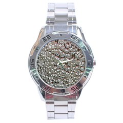 Droplets Pane Drops Of Water Stainless Steel Analogue Watch