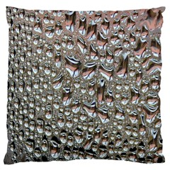 Droplets Pane Drops Of Water Large Flano Cushion Case (one Side)