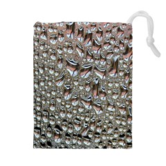 Droplets Pane Drops Of Water Drawstring Pouches (extra Large)