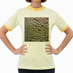 Droplets Pane Drops Of Water Women s Fitted Ringer T Shirts