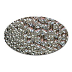 Droplets Pane Drops Of Water Oval Magnet