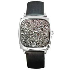 Droplets Pane Drops Of Water Square Metal Watch