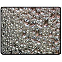 Droplets Pane Drops Of Water Fleece Blanket (medium)