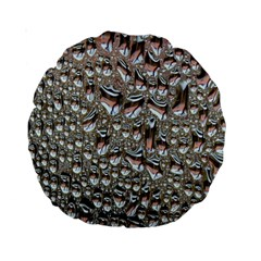Droplets Pane Drops Of Water Standard 15  Premium Round Cushions