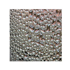 Droplets Pane Drops Of Water Small Satin Scarf (square)