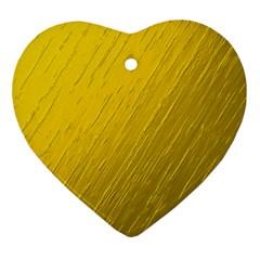 Golden Texture Rough Canvas Golden Ornament (heart)