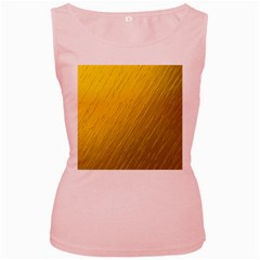 Golden Texture Rough Canvas Golden Women s Pink Tank Top