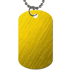 Golden Texture Rough Canvas Golden Dog Tag (one Side)