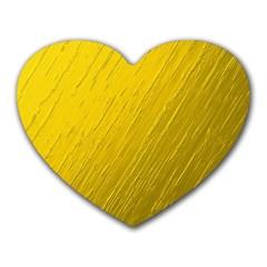 Golden Texture Rough Canvas Golden Heart Mousepads