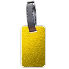 Golden Texture Rough Canvas Golden Luggage Tags (one Side)