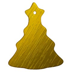 Golden Texture Rough Canvas Golden Ornament (christmas Tree)