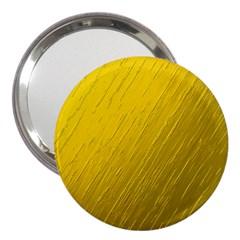 Golden Texture Rough Canvas Golden 3  Handbag Mirrors