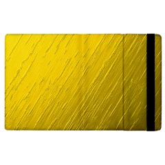 Golden Texture Rough Canvas Golden Apple Ipad 2 Flip Case