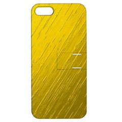 Golden Texture Rough Canvas Golden Apple Iphone 5 Hardshell Case With Stand