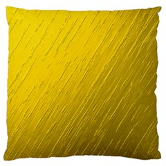 Golden Texture Rough Canvas Golden Standard Flano Cushion Case (one Side)