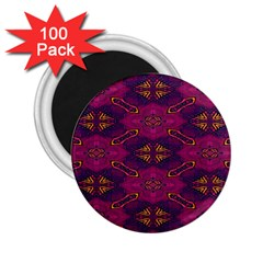 Pattern Decoration Art Abstract 2 25  Magnets (100 Pack)