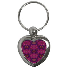 Pattern Decoration Art Abstract Key Chains (heart)