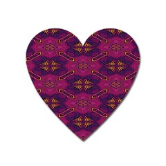 Pattern Decoration Art Abstract Heart Magnet
