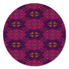 Pattern Decoration Art Abstract Magnet 5  (round)