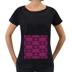 Pattern Decoration Art Abstract Women s Loose Fit T Shirt (black)