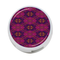 Pattern Decoration Art Abstract 4 Port Usb Hub (two Sides)