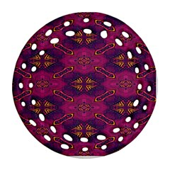 Pattern Decoration Art Abstract Round Filigree Ornament (two Sides)